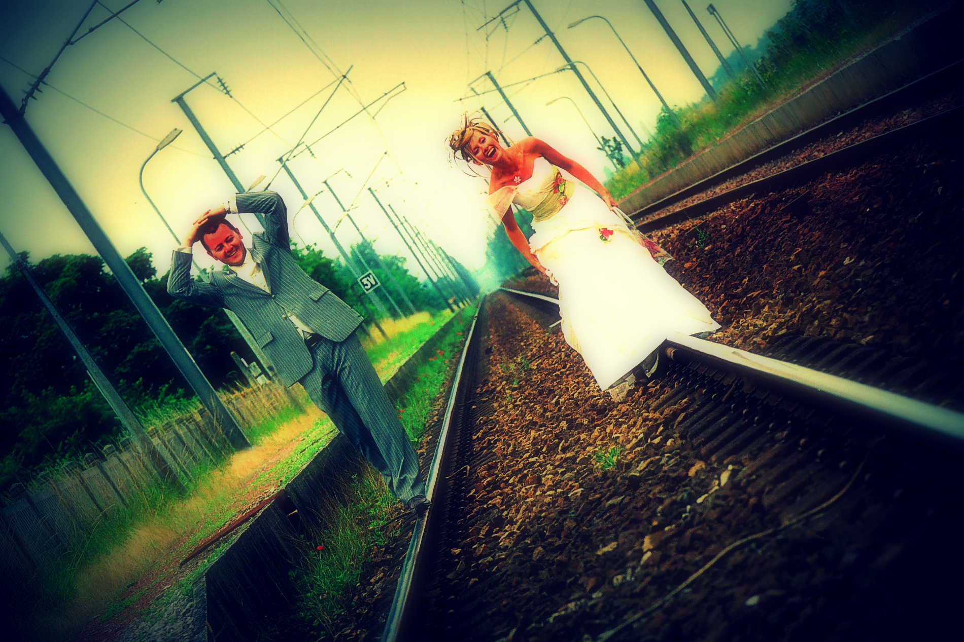 photo originale de mariage